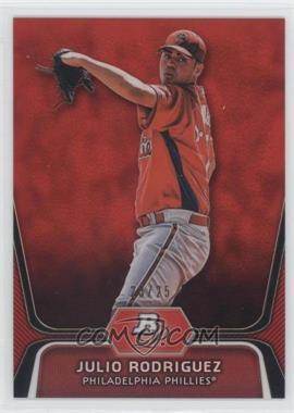 2012 Bowman Platinum - Prospects - Red Refractor #BPP77 - Julio Rodriguez /25