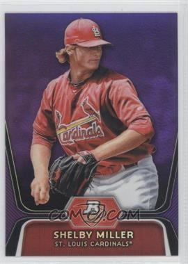 2012 Bowman Platinum - Prospects - Retail Purple Refractor #BPP27 - Shelby Miller