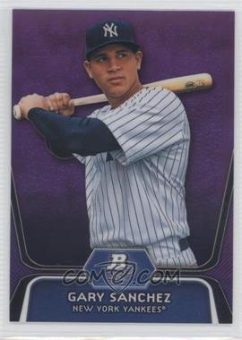 2012 Bowman Platinum - Prospects - Retail Purple Refractor #BPP38 - Gary Sanchez