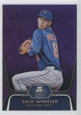 2012 Bowman Platinum - Prospects - Retail Purple Refractor #BPP48 - Zack Wheeler