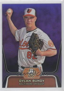 2012 Bowman Platinum - Prospects - Retail Purple Refractor #BPP64 - Dylan Bundy
