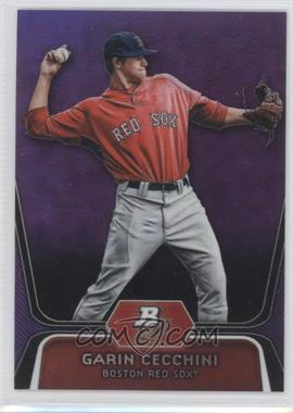 2012 Bowman Platinum - Prospects - Retail Purple Refractor #BPP7 - Garin Cecchini
