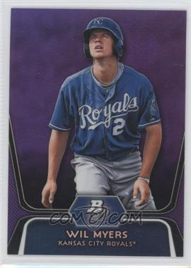 2012 Bowman Platinum - Prospects - Retail Purple Refractor #BPP80 - Wil Myers