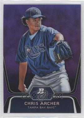 2012 Bowman Platinum - Prospects - Retail Purple Refractor #BPP82 - Chris Archer