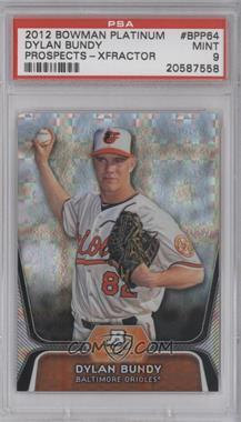 2012 Bowman Platinum - Prospects - X-Fractor #BPP64 - Dylan Bundy [PSA9]