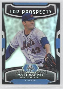2012 Bowman Platinum - Top Prospects #TP-MH - Matt Harvey