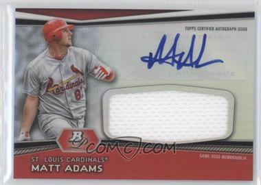 2012 Bowman Platinum Autographed Jumbo Relics [Autographed] #AJR-MA - Matt Adams