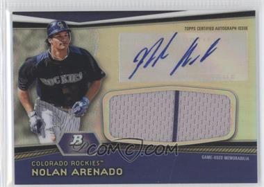 2012 Bowman Platinum Autographed Jumbo Relics [Autographed] #AJR-NA - Nolan Arenado