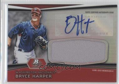 2012 Bowman Platinum Autographed Jumbo Relics #AJR-BH - Bryce Harper