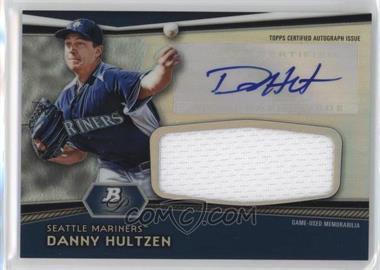 2012 Bowman Platinum Autographed Jumbo Relics #AJR-DH - Danny Hultzen
