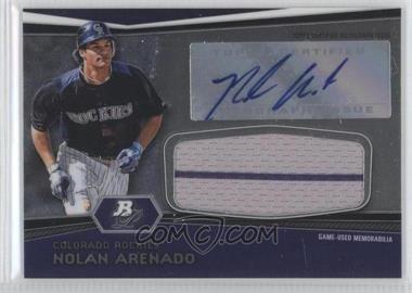 2012 Bowman Platinum Autographed Jumbo Relics #AJR-NA - Nolan Arenado