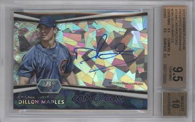 2012 Bowman Platinum Autographed Prospects Atomic Refractor #AP-DM - Dillon Maples /5 [BGS 9.5]
