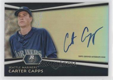 2012 Bowman Platinum Autographed Prospects [Autographed] #AP-CC - Carter Capps