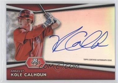2012 Bowman Platinum Autographed Prospects [Autographed] #AP-KC - Kole Calhoun