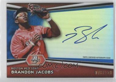 2012 Bowman Platinum Autographed Prospects Blue Refractor [Autographed] #AP-BJ - Brandon Jacobs /199