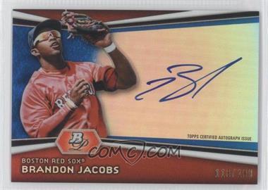 2012 Bowman Platinum Autographed Prospects Blue Refractor #AP-BJ - Brandon Jacobs /199