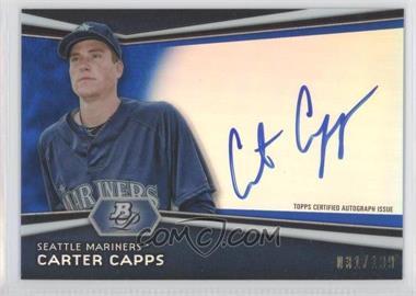 2012 Bowman Platinum Autographed Prospects Blue Refractor #AP-CC - Carter Capps /199