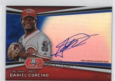 2012 Bowman Platinum Autographed Prospects Blue Refractor #AP-DC - Daniel Corcino /199