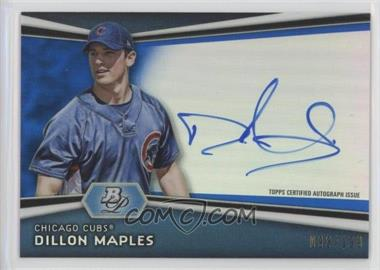 2012 Bowman Platinum Autographed Prospects Blue Refractor #AP-DM - Dillon Maples /199