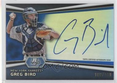 2012 Bowman Platinum Autographed Prospects Blue Refractor #AP-GB - Greg Bird /199