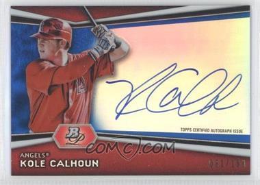 2012 Bowman Platinum Autographed Prospects Blue Refractor #AP-KC - Kole Calhoun /199