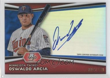 2012 Bowman Platinum Autographed Prospects Blue Refractor #AP-OA - Oswaldo Arcia /199