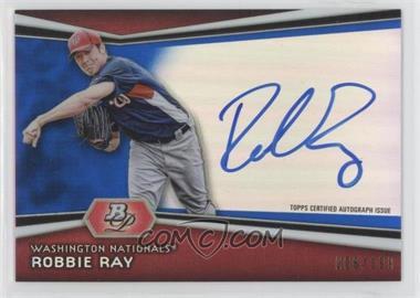 2012 Bowman Platinum Autographed Prospects Blue Refractor #AP-RR - Robbie Ray /199