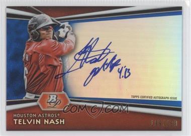 2012 Bowman Platinum Autographed Prospects Blue Refractor #AP-TH - Telvin Nash /199