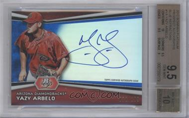 2012 Bowman Platinum Autographed Prospects Blue Refractor #AP-YA - Yazy Arbelo /199 [BGS 9.5]