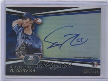 2012 Bowman Platinum Autographed Prospects Blue Refractor #AP-YD - Yu Darvish /199