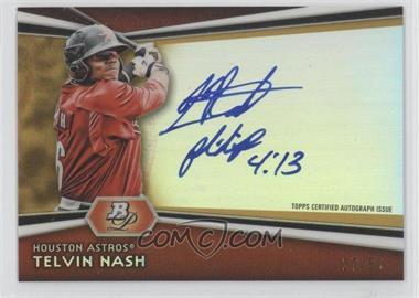 2012 Bowman Platinum Autographed Prospects Gold Refractor [Autographed] #AP-TN - Telvin Nash /50