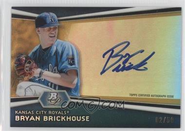 2012 Bowman Platinum Autographed Prospects Gold Refractor #AP-BB - Bryan Brickhouse /50