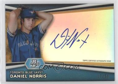 2012 Bowman Platinum Autographed Prospects Gold Refractor #AP-DN - Daniel Norris /50