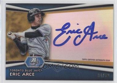 2012 Bowman Platinum Autographed Prospects Gold Refractor #AP-EA - Eric Arce /50
