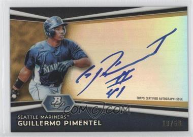 2012 Bowman Platinum Autographed Prospects Gold Refractor #AP-GP - Guillermo Pimentel /50