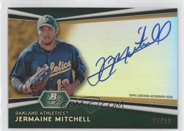2012 Bowman Platinum Autographed Prospects Gold Refractor #AP-JM - Jermaine Mitchell /50