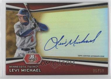 2012 Bowman Platinum Autographed Prospects Gold Refractor #AP-LM - Levi Michael /50