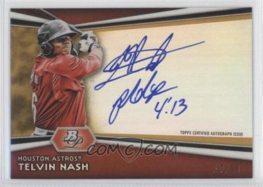 2012 Bowman Platinum Autographed Prospects Gold Refractor #AP-TN - Telvin Nash /50