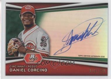 2012 Bowman Platinum Autographed Prospects Green Refractor [Autographed] #AP-DC - Daniel Corcino /399