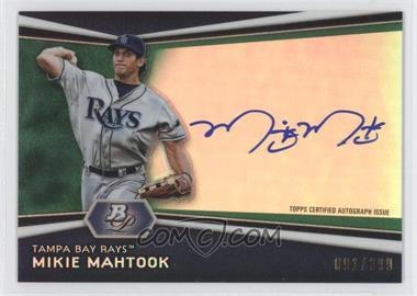 2012 Bowman Platinum Autographed Prospects Green Refractor [Autographed] #AP-MM - Mikie Mahtook /399
