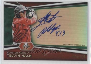 2012 Bowman Platinum Autographed Prospects Green Refractor [Autographed] #AP-TN - Telvin Nash /399