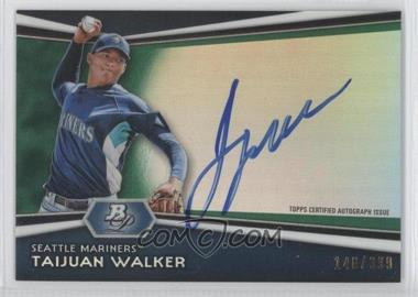2012 Bowman Platinum Autographed Prospects Green Refractor [Autographed] #AP-TW - Taijuan Walker /399