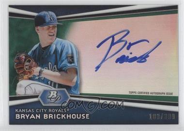 2012 Bowman Platinum Autographed Prospects Green Refractor #AP-BB - Bryan Brickhouse /399