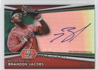 2012 Bowman Platinum Autographed Prospects Green Refractor #AP-BJ - Brandon Jacobs /399