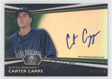 2012 Bowman Platinum Autographed Prospects Green Refractor #AP-CC - Carter Capps /399