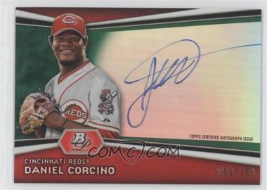 2012 Bowman Platinum Autographed Prospects Green Refractor #AP-DC - Daniel Corcino /399