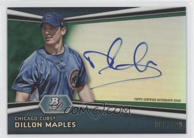 2012 Bowman Platinum Autographed Prospects Green Refractor #AP-DM - Dillon Maples /399