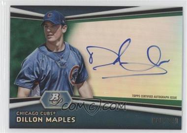 2012 Bowman Platinum Autographed Prospects Green Refractor #AP-DM - Dillon Maples /399