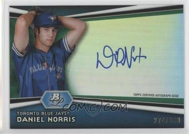 2012 Bowman Platinum Autographed Prospects Green Refractor #AP-DN - Daniel Norris /399