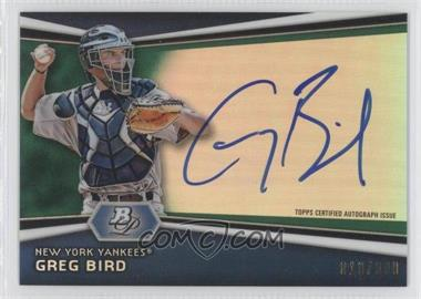 2012 Bowman Platinum Autographed Prospects Green Refractor #AP-GB - Greg Bird /399